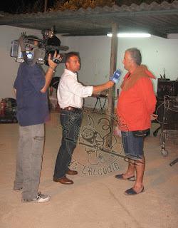 Entrevista de TVE als Dimonis Enroscats, abans del correfoc