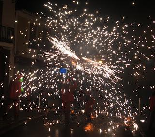 Maquina de cremar escapant foc al correfoc de Vinalesa