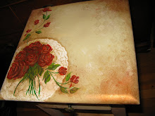 Roses on White Doily