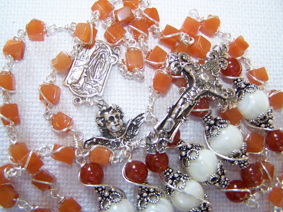 No. 55.  Lady of Lourdes Rosary- ( NEW )