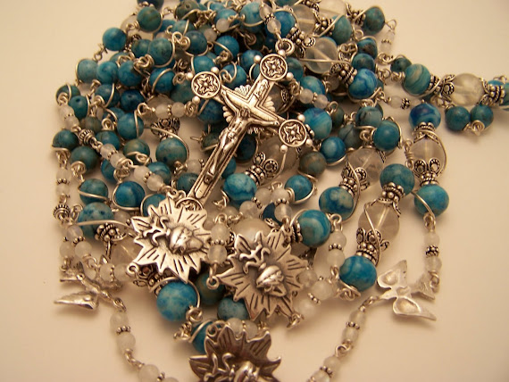 No. 66  CUSTOM MADE LASSO Wedding Rosary (SOLD)
