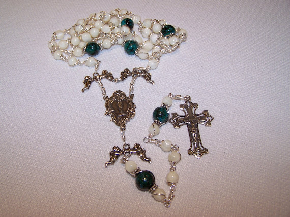 No. 59.  Holy Eucharist Rosary- Just Completed ( NEW )