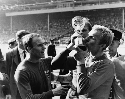 Top Soccer Player Bobby Moore Kisses the Jules Rimet Cup