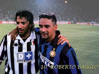 Roberto Baggio With His Friend