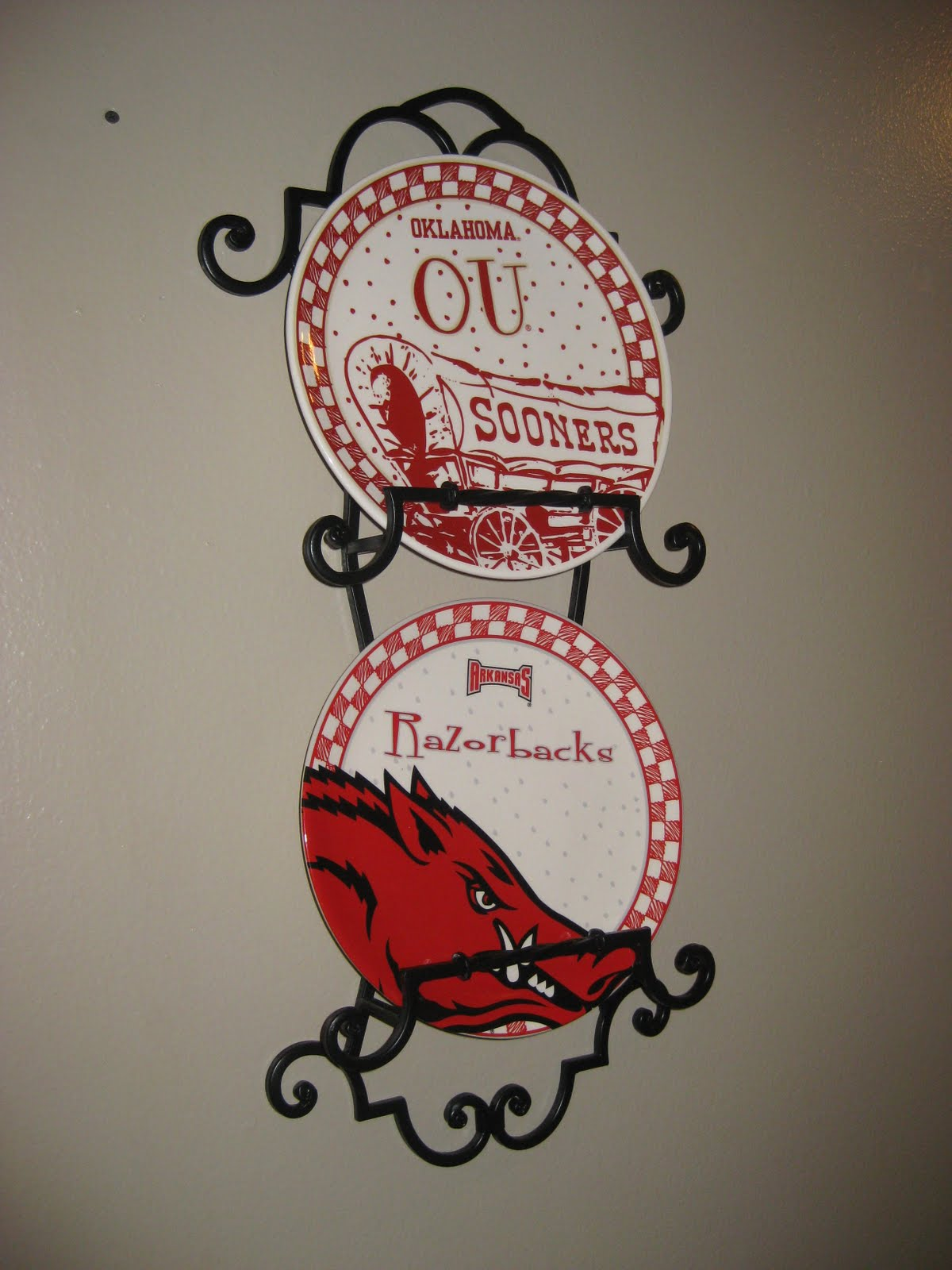 decor of university wreath arkansas razorback best
