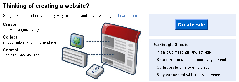 how to create a file cabinet in new google sites
