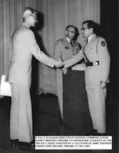 OUR CHIEF TECHNICAL OFFICER RECIEVING CERTIFICATE FROM GENERAL STARBIRD US ARMY AT US ARMY ENGINEER