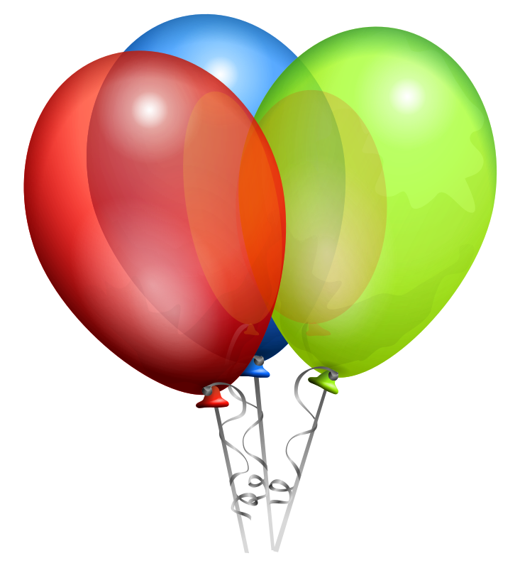 clip art balloons. clipart birthday alloons