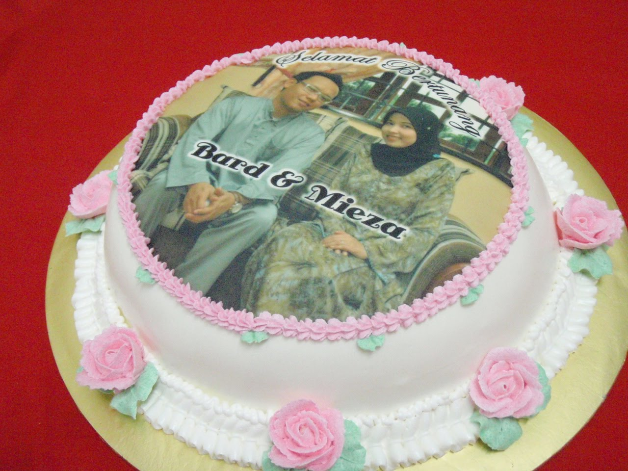 simple and sweet engagement cake for Bard and Mieza.