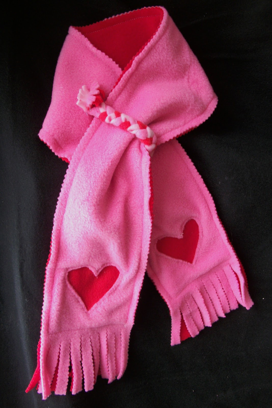 come together applique fleece scarf
