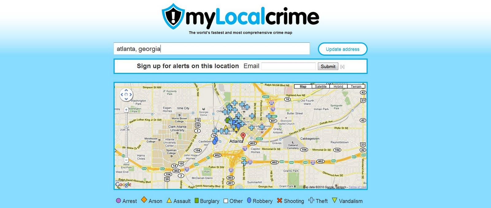 Crime maps around the world atlanta georgia crime map gumiabroncs Choice Image