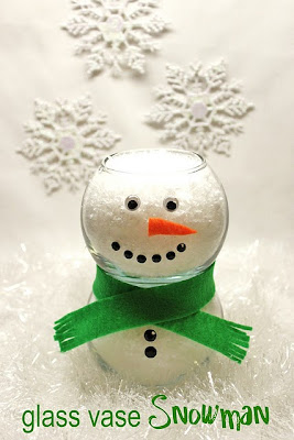 Pluff mudd studio let it snow decorations and centerpiece for Dollar tree fish bowls