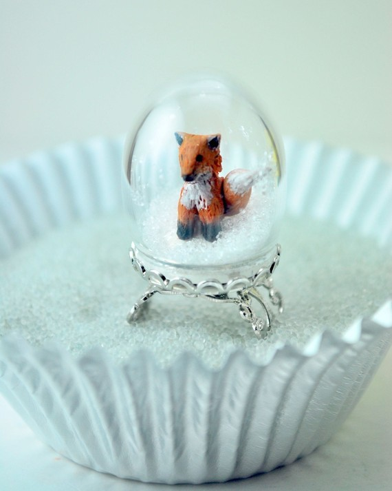 fox snow globe coloring pages - photo#27