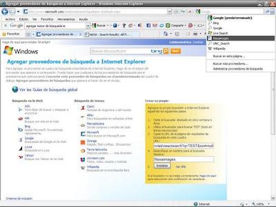 Busqueda Internet Explorer