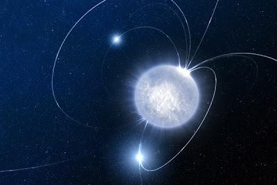 Ilustración de un magnetar