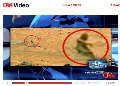 El falso 'Pie Grande' en Marte