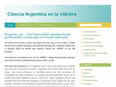 Ciencia Argentina en la Vidriera