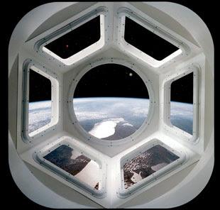 Simulación de vista de la Tierra desde Tranquility