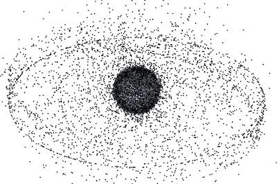 Desechos espaciales en GEO