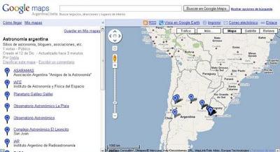 mapa astronomía argentina