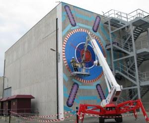 Mural Atlas en progreso