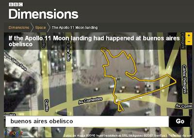 Ruta astronautas Apolo11 en Buenos Aires