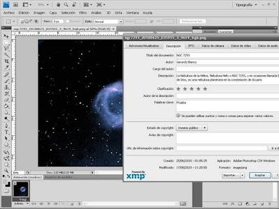 NGC7293 en Photoshop