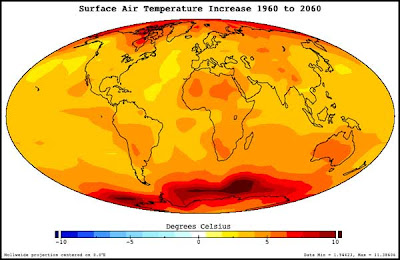 calentamiento global promedio anual 2060