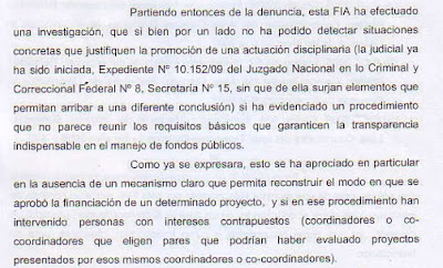 Extracto del dictamen FIA