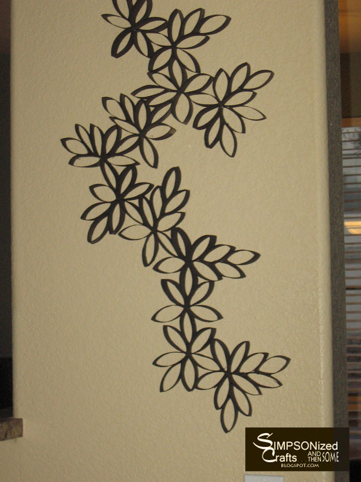 Wall Decor Ideas Using Paper : Simpsonized crafts recycled art craft project