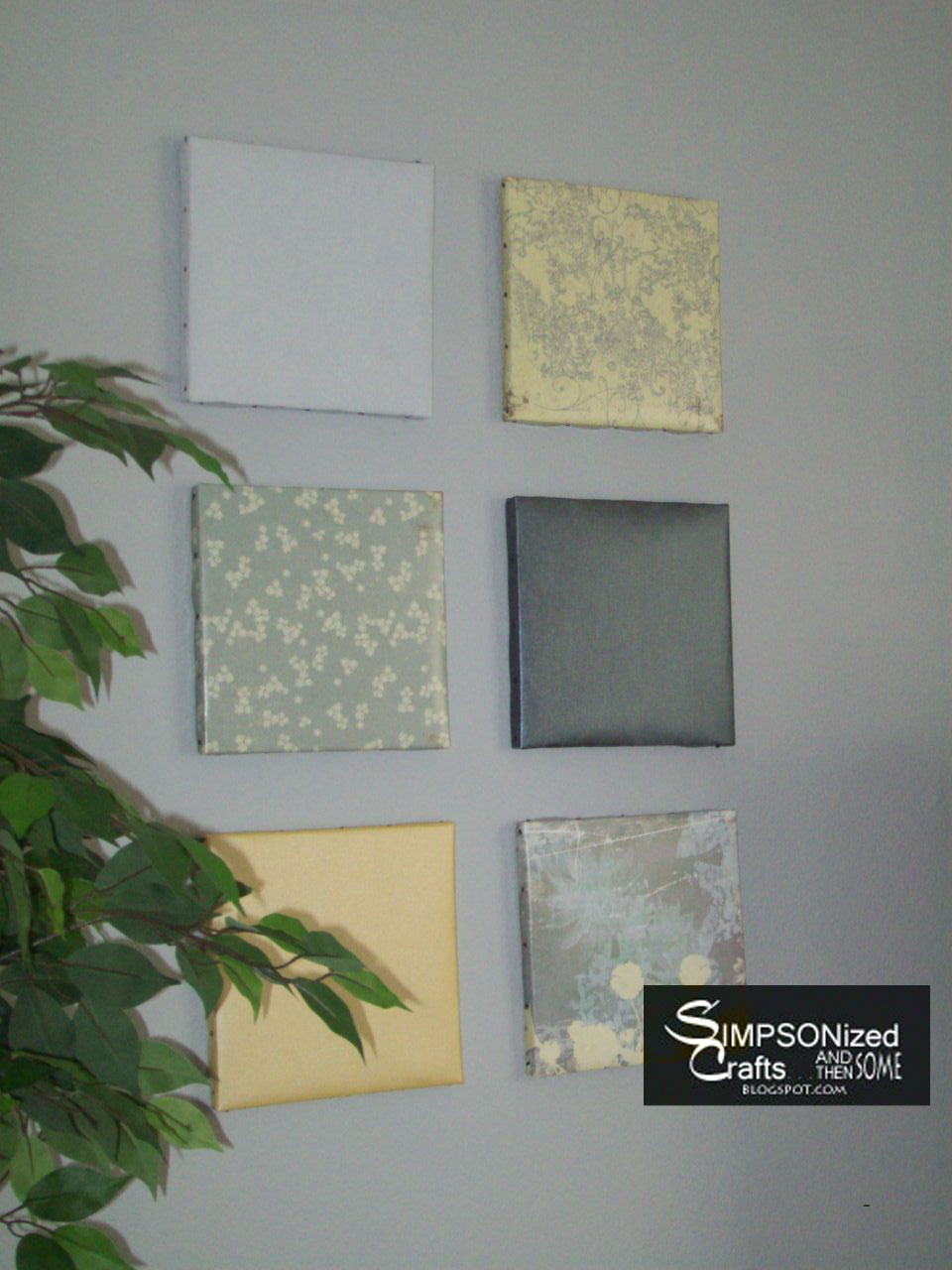 Wall decor made from scrapbooking paper : Simpsonized crafts the things you can do with scrapbook