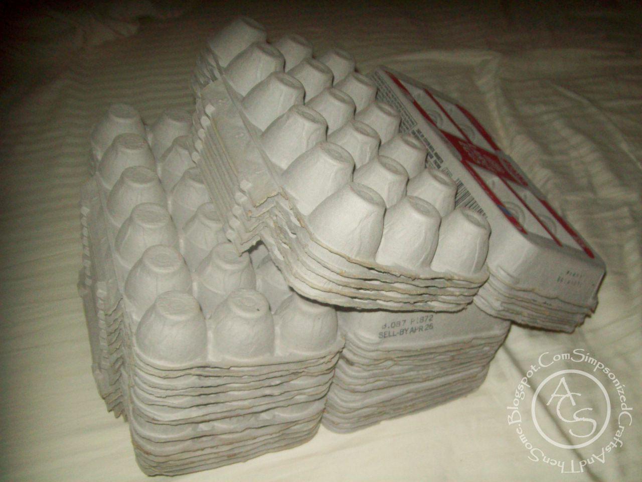 Simpsonized crafts using egg carton for decor for Styrofoam egg carton crafts