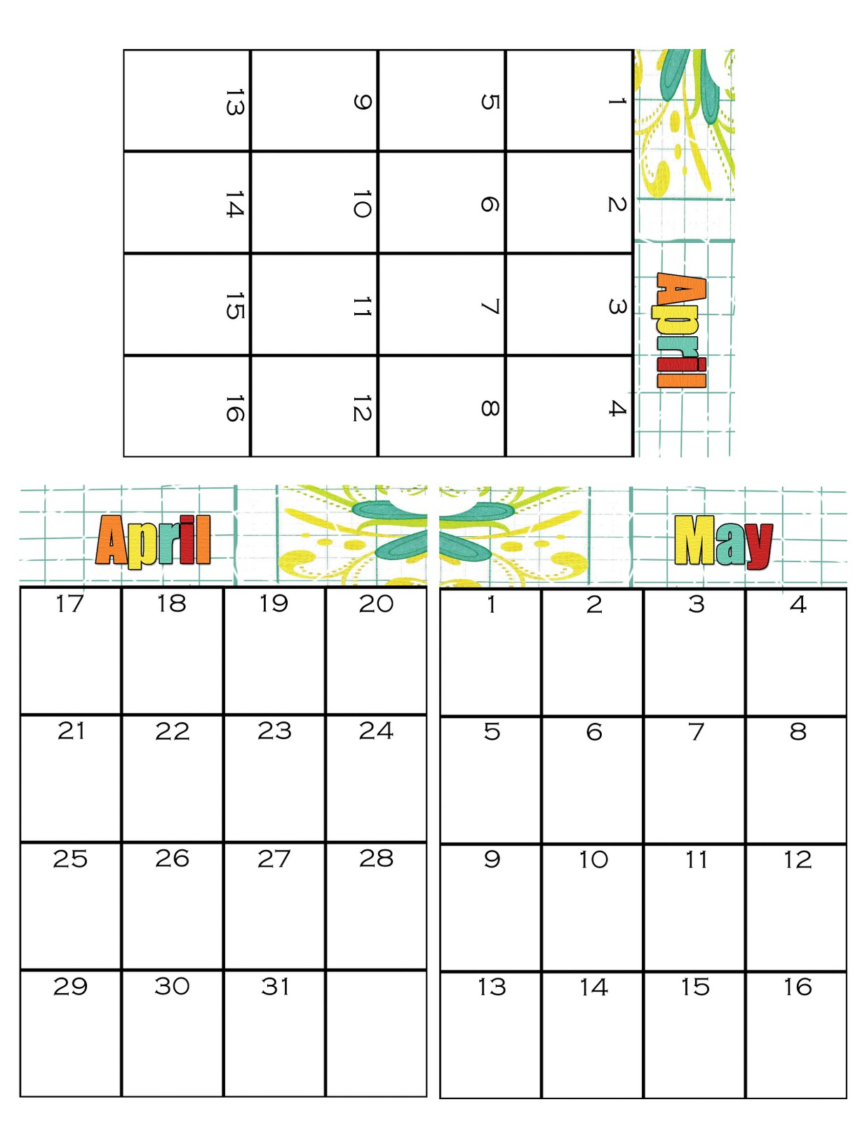 May Calendar Book : Simpsonized crafts free printable birthday calendar using