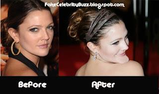 Fake Celebrity Buzz Drew Barrymore S Chin Implant