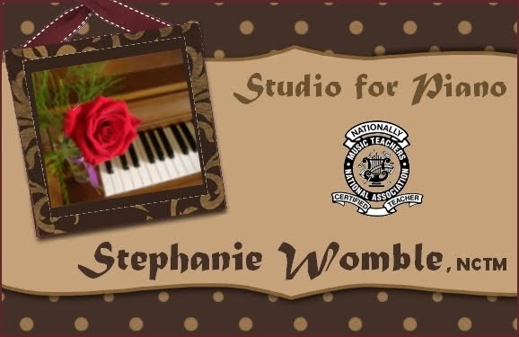 Stephanie Womble, NCTM | Studio for Piano | Gulf Breeze, Florida | Private Piano Lessons