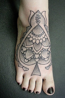 As  Tattoos on feet design