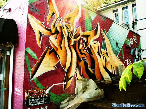 New Style 3D Graffiti Design Wallpaper,graffiti art,graffiti murals