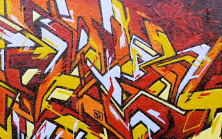 explosion graffiti alphabet art