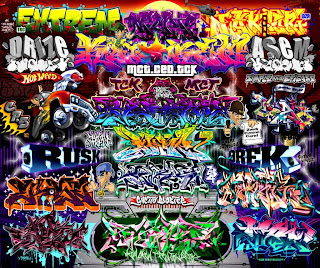 graffiti arrow full color alphabet letters