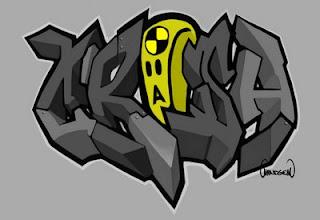 xrisa graffiti alphabet, letters style