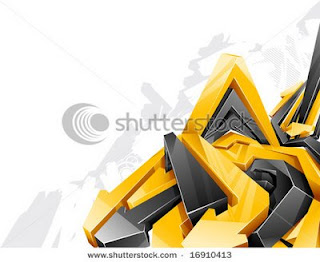 Yellow Digital Arrow Alphabet