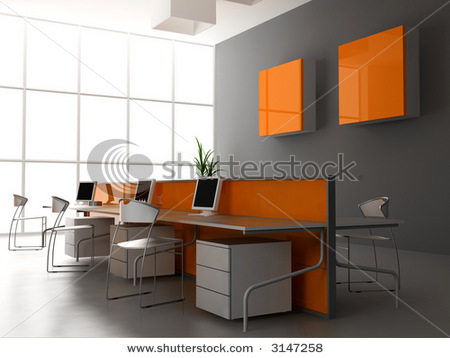interior office design | black interior