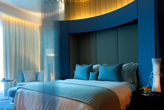 Luxuary Blue interior design Bedroom