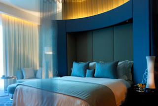 Luxuary Blue interior design Bedroom