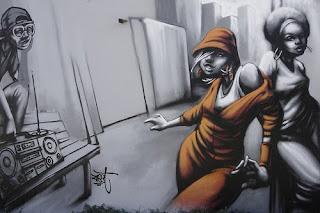 Graffiti Tags Woman Design Art