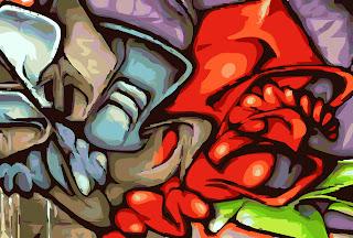 Robot Graffiti Sketches Art