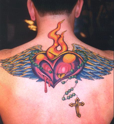 bleeding heart tattoo