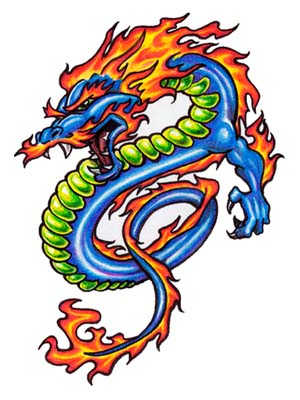 cartoon images of dragons. dragon tattoo flash