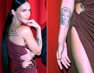 megan fox marilyn monroe quote tattoos