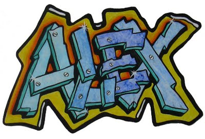 Graffiti Pics And Fonts: Amazing Graffiti Names Alex Design